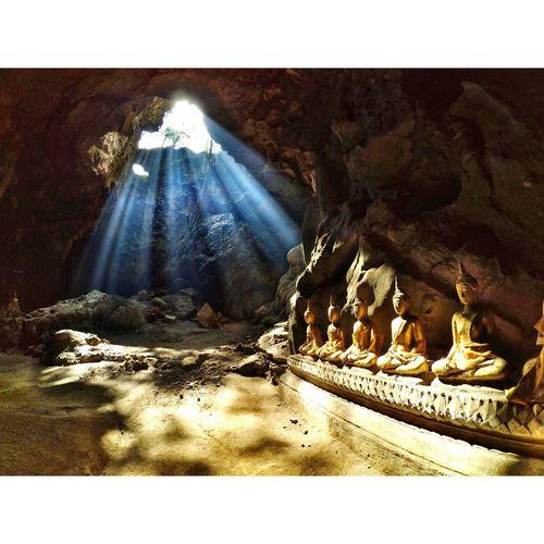 Temple Cave Light Sunlight Stone Thailand Amezing Thailand Unseenthailand