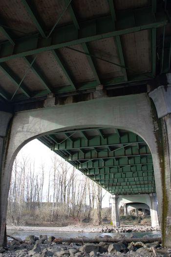 Arch bridge in city
