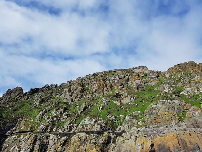 Skellig Michael, Ireland, view from boat. Island Skelligmichael Ireland Travel Landscape Sky Cloud - Sky Mountain Peak Rocky Mountains