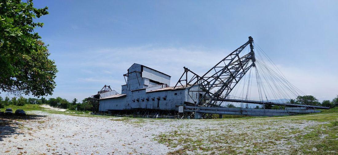 "The last remaining tin dredge in the world also known as ""kapal korek"" in Malay Tin Dredge Tin Dredge Tin Mining Mining Kapal Korek Malay Kapal Malaysia Perak Tanjung Tualang Tt5 Batu Gajah"