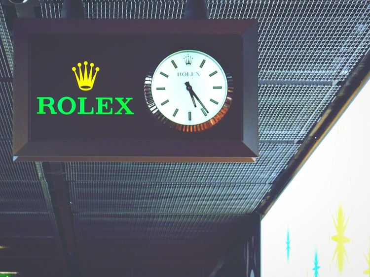 In The Terminal Charles de Gaulle, Paris Rolex Clock Time