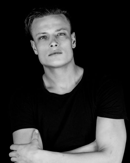 Black Background Young Adult Portrait One Person Studio Shot Adults Only Front View Adult People Indoors  One Man Only Only Men Dude Male Model Modelling Bnw Blackandwhite Confidence