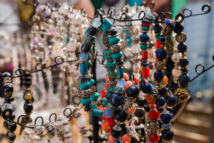 Bracelets Hanging For Sale At Market