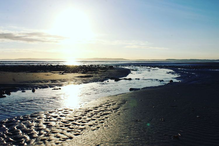 Light above the waters Water Sea Beach Sunset Low Tide Wave Sand Sunlight Sun Reflection Tide Coastline Calm Seascape Horizon Over Water