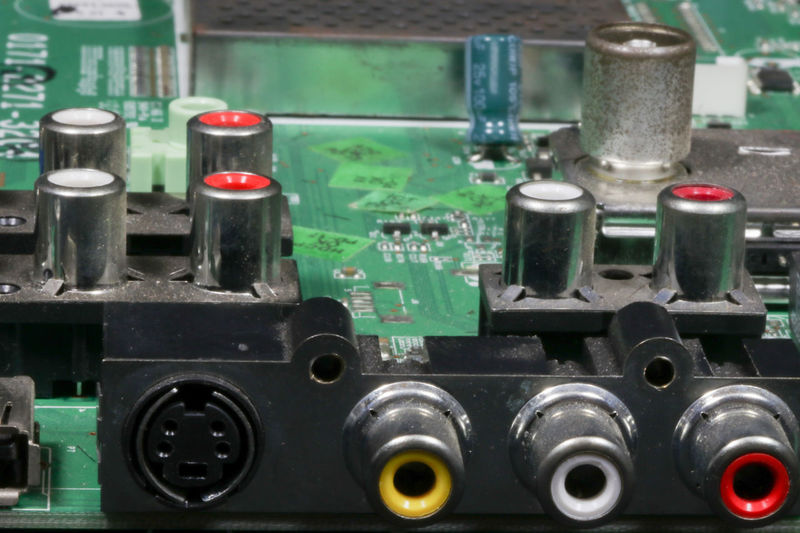 Audio Audio Equipment Electronic Mother Board Motherboard. Motherboards Audio Electronics Circuit Board Circuit Boards Close-up Complexity Computer Chip Computer Equipment Computer Part Connection Control Panel Electronic Equipment Electronics Industry Factory Industry Motherboard Motherboard S-video Technology Video