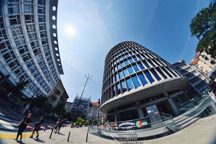 Architecture Modernism Fisheye Lookup Sunny Day Summer Clear Sky Citylife