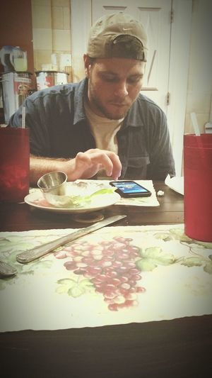 Luckiest girl in the world on a lunch date with my love. -xo handsome Pokemon Go Mwc Seriouslyblessed