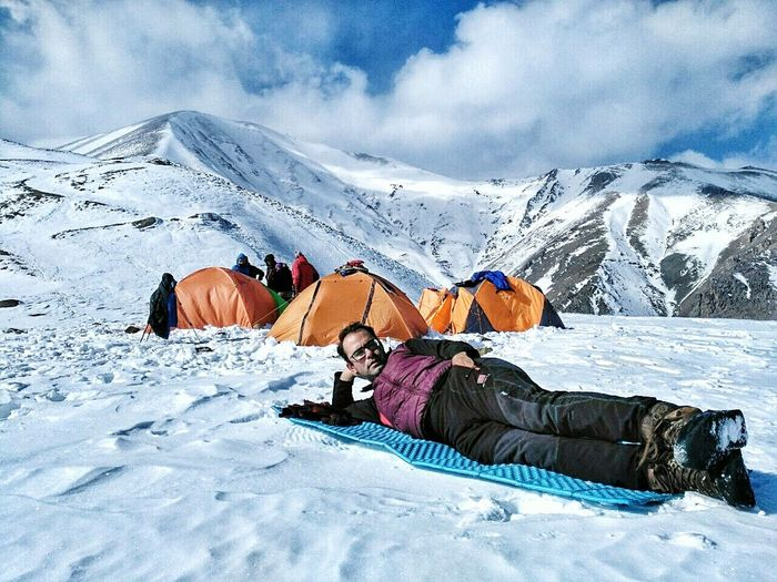 Me Snow ❄ Outdoors Mountain Range Leisure Activity Vacations Scenics Winter Mountain Landscape Cloud - Sky Sky Real People Beauty In Nature People Day Nature Adults Only Cold Temperature Urmia Iran One Person Oromieh The Week On EyeEem