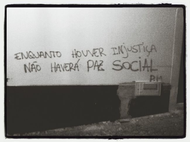 oN THe WaLL Fuck The System Graffitti Blackandwhite On The Wall