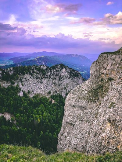 Romantic view and cliff Nikon Beauty In Nature Cliff Cloud - Sky Creux Du Van Environment Formation Idyllic Land Landscape Mountain Mountain Range Nature No People Non-urban Scene Outdoors Rock Rock - Object Rock Formation Romantic Sky Scenics - Nature Sky Switzerland Tranquil Scene Tranquility