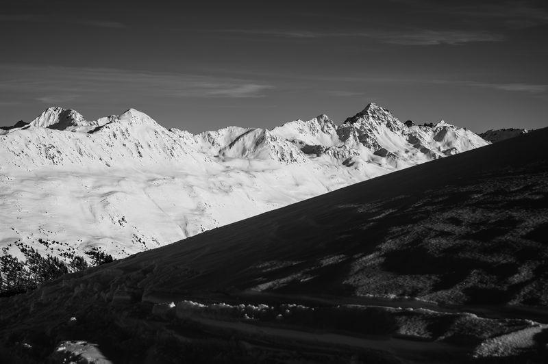 Mountain Snow Scenics - Nature Winter Cold Temperature Beauty In Nature Snowcapped Mountain Landscape Nature Jakobshorn Davos Graubünden Switzerland Schwarzhorn Blackandwhite