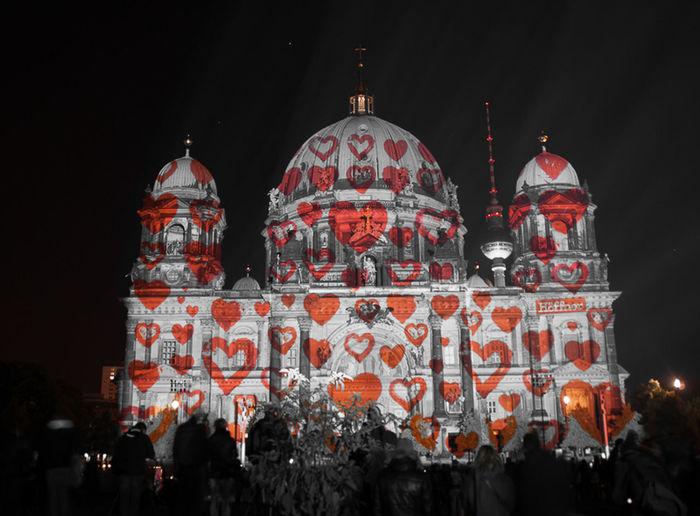 Festival Of Lights 2015 Berliner Dom Herzen