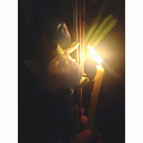 ดอกไม้ ธูป เทียน สำหรับ ไป Triple circumambulation 💐💐💐 Tonight ♥