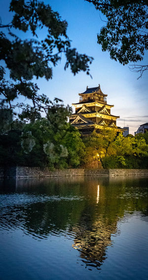 Architecture Tree Built Structure Building Exterior Sky Plant Reflection Water Lake History The Past Nature Waterfront Religion No People Place Of Worship Belief Travel Destinations Building Outdoors