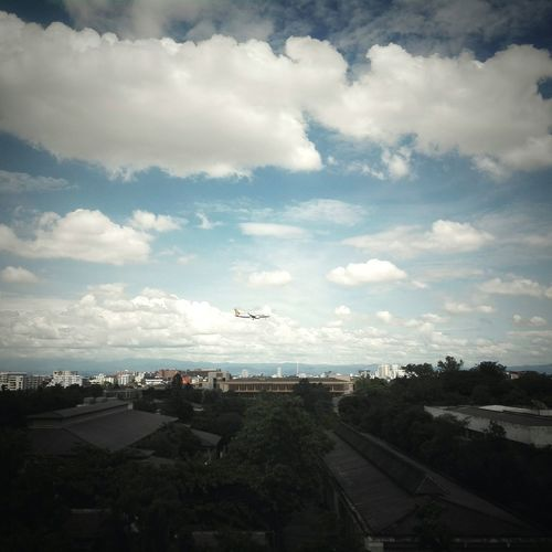 Sayhigh Cityscape Clouds And Sky Airplane City Norththailand Chiangmai University Cnx Thailand Photography Goodday Niceview