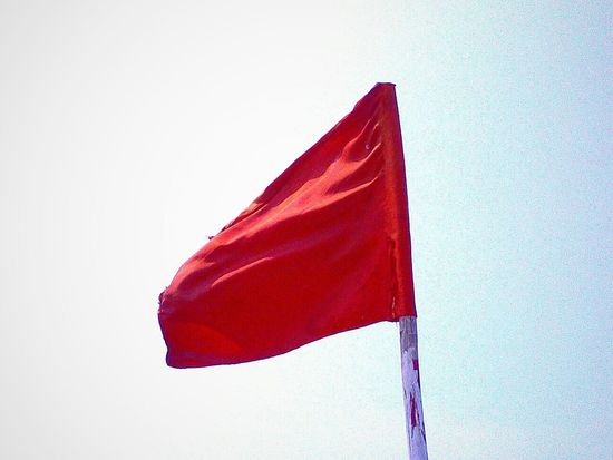 Negative Space Flag Redflag Bluesky