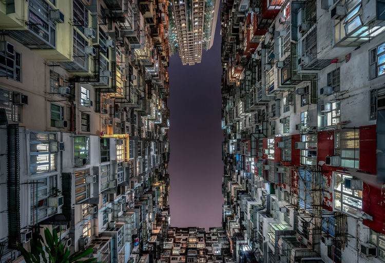 Building Exterior Architecture Built Structure Building City Residential District Apartment No People Window Outdoors Cityscape Illuminated Day Community Skyscraper Tall - High Sky Directly Below Hong Kong Quarry Bay China