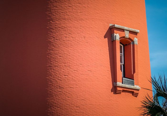 Built Structure Building Exterior Architecture Orange Color No People Outdoors Day Lighthouse Building Guidance Window Close-up Structure Florida