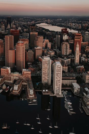Boston Helicopter Shot Aerial Shot Boston Architecture City Skyscraper Building Exterior Crowded High Angle View Travel Destinations Outdoors Aerial View Day Sky EyeEm Ready