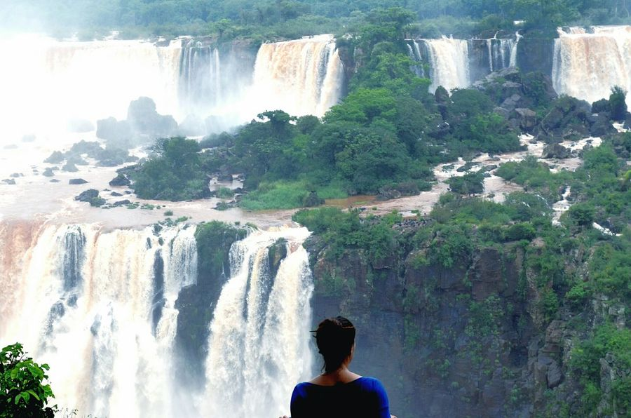 Iguazú // Waterfall_collection One Person Real People Tree Day Nature Outdoors Water Beauty In Nature People Adults Only Waterfall Water_collection Iguazu Falls Iguazu National Park EyeEmBestPics EyeEm Nature Lover en Iguazu 🌈🔆, Brasil