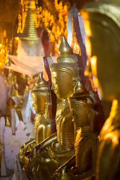 Buddha Buddha Temple Belief Buddha Statue Buddhism Building Built Structure Gold Gold Colored Indoors  Place Of Worship Religion Representation Sculpture Shrine Spirituality Statue