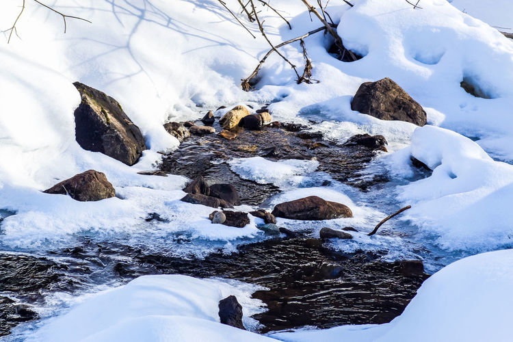 Creek Creekside Evening Sun Forest Nature Nature Photography Naturelovers Open Water Running Water Scenic Shadow Shadows Showcase March Snow Covered Snow Covered Landscape Stream Sunsets The Week On EyeEm Tranquil Scene Tranquility Trees Waterfront Winter Winter Wonderland Wintertime