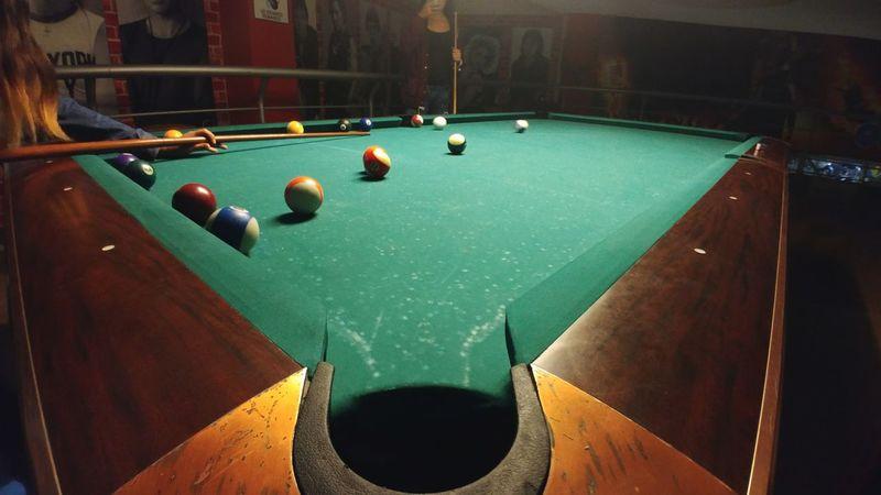 Sport Pool Table Indoors  Pool Ball Pool - Cue Sport People Pool Game Friends