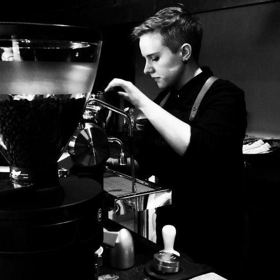 thanks for a perfect coffee taste rancy #Indonesia #barist #baristalife #blackandwhite #coffee #jimbaran #tanamera Real People