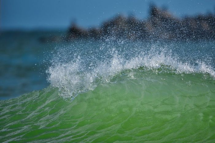 • The Wave • Nikon EyeEm Masterclass EyeEm Best Shots - Nature EyeEm Nature Lover Nordsee Helgoland_collection Water Nature Motion Splashing Wave Sea Close-up Beauty In Nature No People Outdoors Day Green Color Power In Nature Scenics - Nature