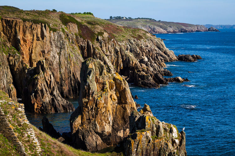 Cliffs Rock Formation Beauty In Nature Cliffside Costline Landscape Nature No People Physical Geography Rock - Object Scenics Seaside Sky Tranquility Water