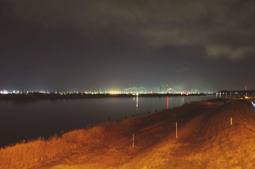 Night Outdoors Sky Landscape Nature Lake Scenics No People Illuminated