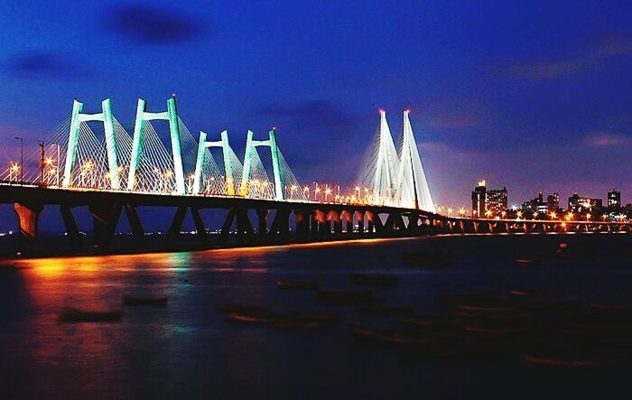 Cityscapes Thebest❤️ of Bandra Worli Sea Link Nightscape Memories ❤ Love ♥ at Mumbai in India