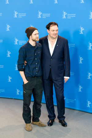 Berlin, Germany - February 19, 2018: German actors Robert Gwisdek and Charly Huebner pose at the '3 Days in Quiberon' (3 Tage in Quiberon) photo call during the 68th Berlinale Film Festival 2018 Actor Charly Huebner Charly Hübner Famous German Photocall Robert Gwisdek Adult Berlinale Berlinale 2018 Berlinale Festival Berlinale2018 Berlinale68 Famous People Front View Full Length People Photo Call Popular Pose Posing Posing For The Camera Smiling Star Two People