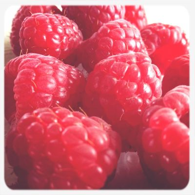 Raspberries Taking Photos Breakfast Fruit