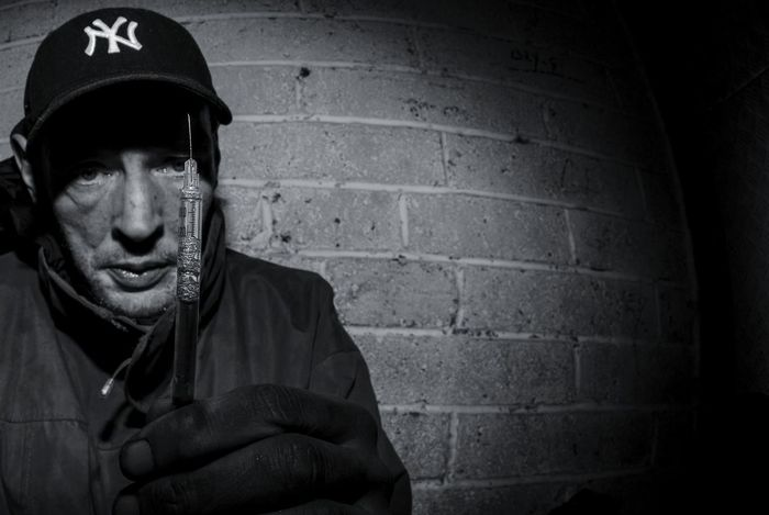One Man Only Portrait Adult Night 8mm Fish-eye Lens Outdoors Drug Drug Addict Addiction Heroin Heroin Addict EyeEmNewHere Full Frame 5d3 Lseries 5dmkiii Drug Addiction Hypodermic Needle Heroinaddict The Week On EyeEm