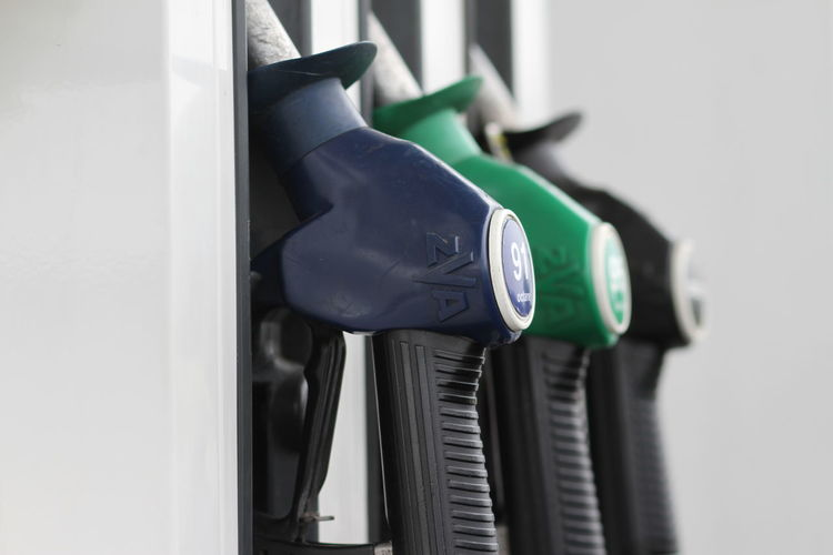 At The Fuel Pump Close-up Day Diesel Fuel Ethanol Unleaded Fuel Expensive Fuel Petrol Station Unleaded Fuel