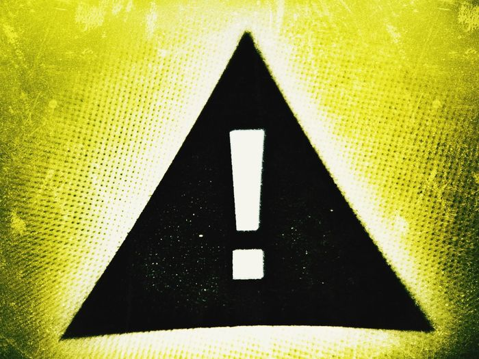 ! Sign Communication Yellow No People Symbol High Angle View Close-up Information Information Sign
