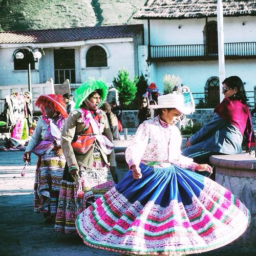 Dancing woman in the valley of Colca, Peru Traditional Clothing Celebration Real People Travel Destinations Arts Culture And Entertainment Peru Colca Canyon Dancing Around The World Traveling Travel Photography