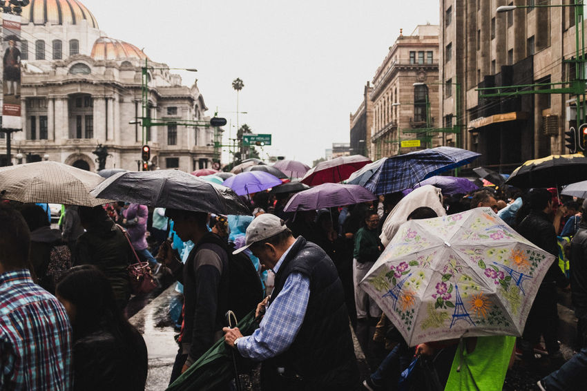 Have I told you that I share weekly street photography videos on my YouTube Channel: https://www.youtube.com/Trovattenphotography ? I shoot with a GoPro mounted on my camera, so you can see what I see. I took this rainy street photo in Mexico City EyeEm Best Shots Mexico Mexico City Rain Rainy Days WeekOnEyeEm Architecture City City Life Crowd Group Of People Large Group Of People People Public Rainy Rainy Season Real People Street Street Photo Street Photography Streetphoto Streetphotography Umbrella Umbrellas Wet