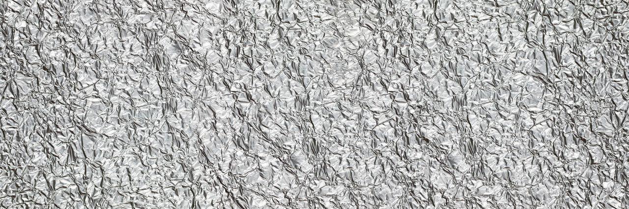 Full frame shot of silver foil
