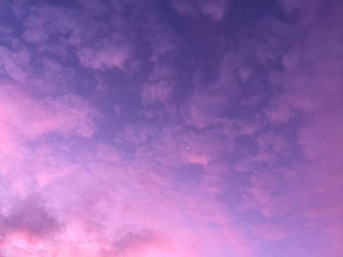 Purple Moon Sky And Clouds