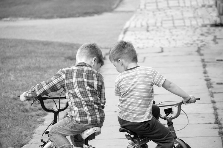 Two Boys On Bicycles