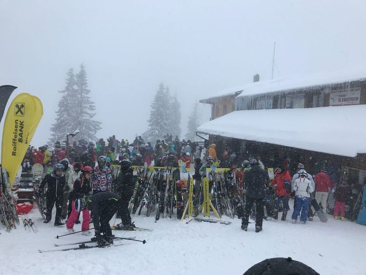 Winter Snow Cold Temperature Weather Large Group Of People Men Day Sky Snowing Leisure Activity Warm Clothing Real People Outdoors Nature People Clear Sky Tree