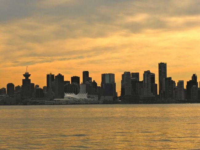 I'm in love with this city Vancouver Skyline OneYearAgo Nofilter