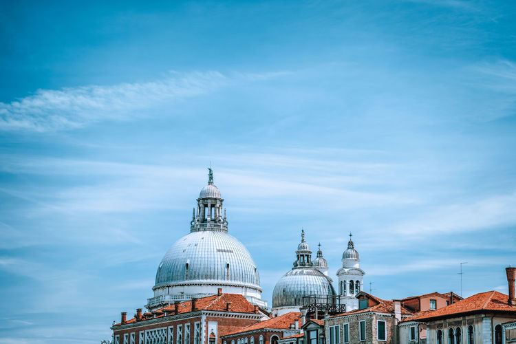 View of church dome against sky in city