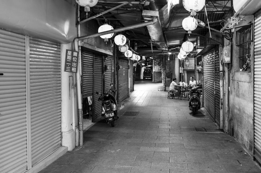 Tainan, Taiwan Alley Architecture Building Built Structure Ceiling City Direction Footpath Illuminated Indoors  Lighting Equipment Market Night Real People Shopping Shutter Store Street The Way Forward Transportation