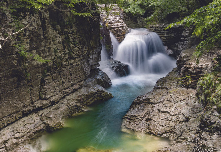 Ocatse Canion Scenics - Nature Water Motion Waterfall Beauty In Nature Tree Long Exposure Blurred Motion Forest Flowing Water Nature Land Rock - Object Rock Solid Plant Environment No People Power In Nature Flowing Outdoors Rainforest Kinchkha Okatse Canion