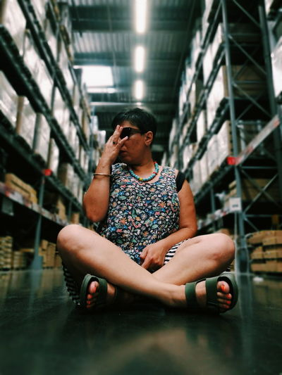 IKEA time City Full Length Sitting Water Casual Clothing Lotus Position Thoughtful Yoga Meditating Personal Perspective Thinking Posture The Fashion Photographer - 2018 EyeEm Awards The Portraitist - 2018 EyeEm Awards The Still Life Photographer - 2018 EyeEm Awards The Creative - 2018 EyeEm Awards Moments Of Happiness