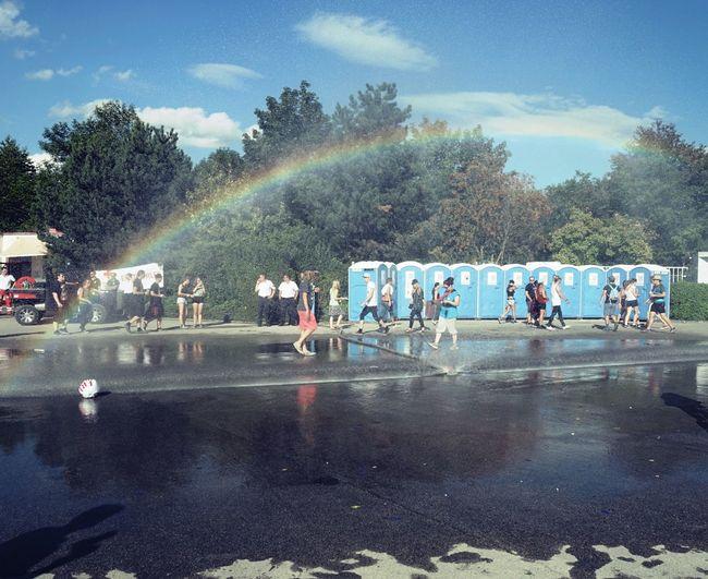 Beauty In Ordinary Things Day Dixie Klo Festival Festival Season Outdoors Rainbow Sky Water