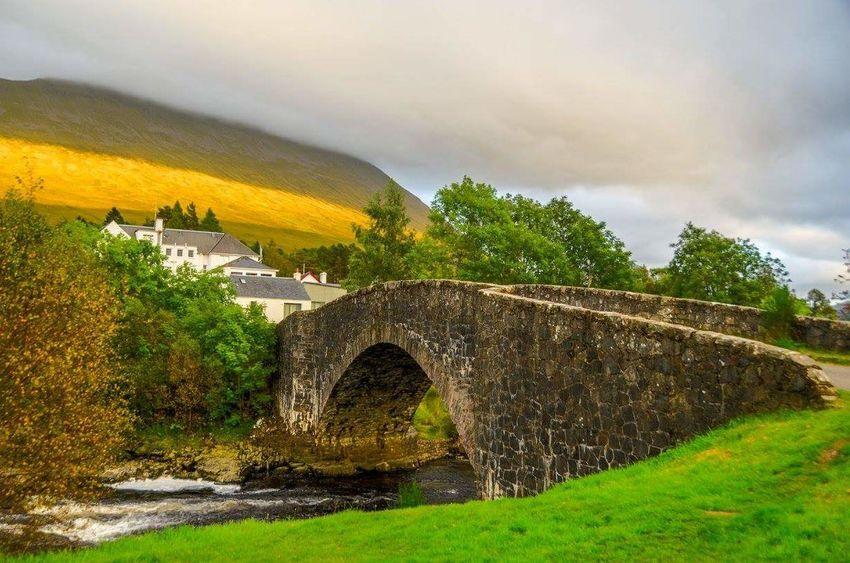 Travel Humed Back Bridge Bridge Of Orchy Scotland Scottish Highlands